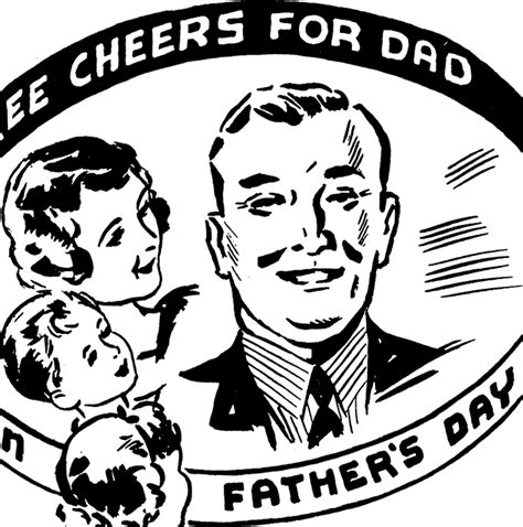 fathers day clip art vintage jpg 1398x1410